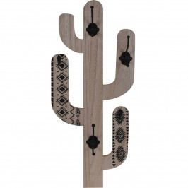 Koopman Drevený háčik Cactus Shape, čierna