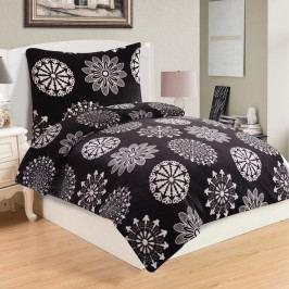 Jahu Obliečky mikroplyš Coco Black, 140 x 200 cm, 70 x 90 cm