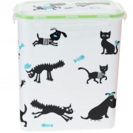 Úložný box na zvieracie krmivo Cane, biela