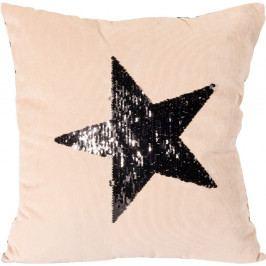Koopman Vankúšik Stars béžová, 45 x 45 cm