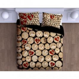 Gipetex Bavlnené obliečky Catasta Tronchi 3D , 140 x 200 cm, 70 x 90 cm