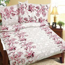Bellatex Krepové obliečky Ružový kvet, 240 x 200 cm, 2 ks 70 x 90 cm
