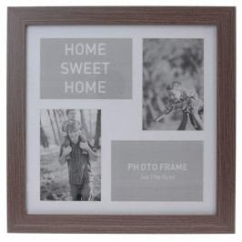 Koopman Fotorámček na 4 fotografie Lamego tmavohnedá, 37 x 37 cm