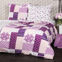 4Home Krepové obliečky Patchwork violet, 140 x 200 cm, 70 x 90 cm