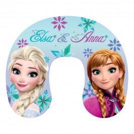Jerry Fabrics Cestovný vankúšik Ľadové Kráľovstvo Frozen Anna and Elsa, 40 x 40 cm