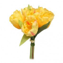 Umelá kvetina zväzok Tulipán, žltá