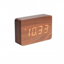 Karlsson 5653DW Dizajnové LED stolné hodiny s budíkom, 15 x 10 cm