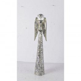 Dakls Kovový anjel s čipkovanou sukňou na čajovú sviečku