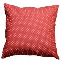 FORBYT Obliečka na vankúšik Bodky červená, 45 x 45 cm