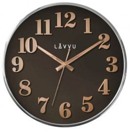 LAVVU LCT1162 - Hnedé hodiny Home Brown s dreveným dekorom