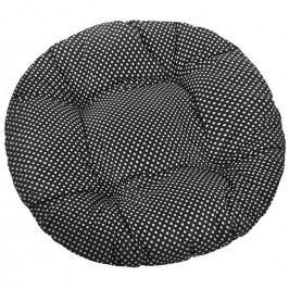Bellatex Sedák Adela okrúhly prešívaný Bodka čierna, 40 cm