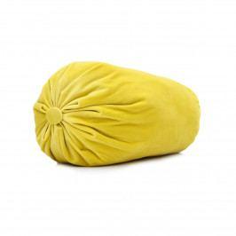 Domarex Vankúš valec Serenity Velvet žltá, 20 x 40 cm