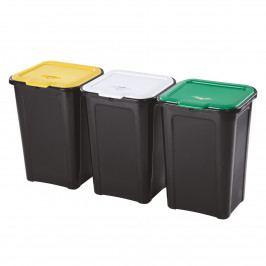 Tontarelli Kôš na triedený odpad 3 x 45 l, čierna