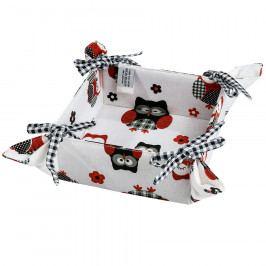Trade concept Textilný košík Sovy, 34 x 34 cm