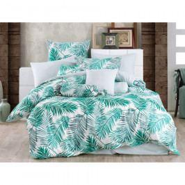 BedTex Bavlnené obliečky Palms Green, 220 x 200 cm, 2 ks 70 x 90 cm