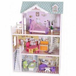 ECOTOYS Domeček pro panenky Barbie Beverly Hills s vybavením