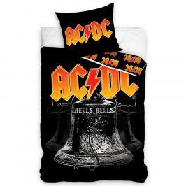TipTrade Bavlnené obliečky AC/DC Hells Bells, 140 x 200 cm, 70 x 80 cm