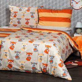 4Home Bavlnené obliečky Little Fox, 220 x 200 cm, 2 ks 70 x 90 cm