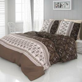 Kvalitex Saténové obliečky Ivory hnedá, 140 x 200 cm, 70 x 90 cm