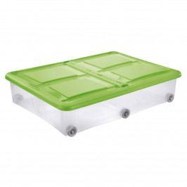 Tontarelli STOCKBOX s vekom, kolieska, 28 l, transparentná/zelená