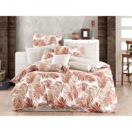 BedTex Bavlnené obliečky Palms Brown, 140 x 220 cm, 70 x 90 cm