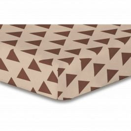 DecoKing Prestieradlo Triangles hnedá S1, 90 x 200 cm