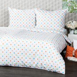 4Home Bavlnené obliečky Dots oranžová, 160 x 200 cm, 70 x 80 cm