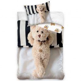 Carbotex Bavlnené obliečky Plyšový Medvedík, 140 x 200 cm, 70 x 80 cm
