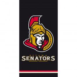 TipTrade Osuška NHL Ottawa Senators Black, 70 x 140 cm