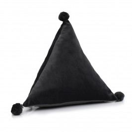 Domarex Vankúš pyramída Trevi Velvet sivá, 40 x 40 x 40 cm