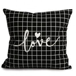 Altom Obliečka na vankúš Love Black, 40 x 40 cm