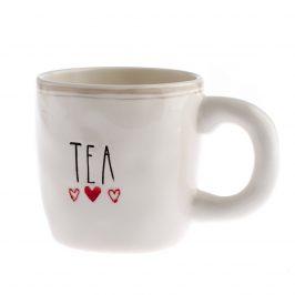Keramický hrnček Tea 400 ml, biela