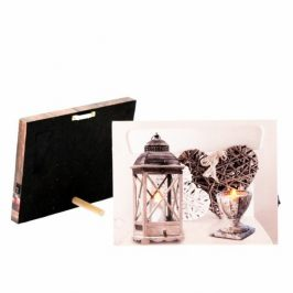 LED obraz na plátne Romantic, 20 x 15 cm