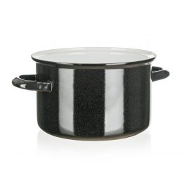 Belis Smaltovaný hrniec Standard 20 cm, čierna, pr. 20 cm