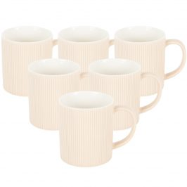 Altom Sada porcelánových hrnčekov Urban 320 ml, 6 ks, béžová