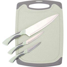 3-dielna sada nožov s doštičkou Excellent, zelená