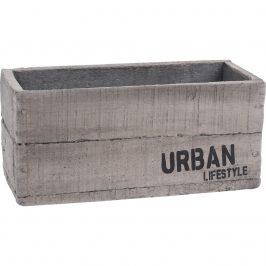 Cementový obal na kvetináč Urban lifestyle, 23 x 11 x 10,5 cm