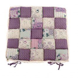 Dakls Prešívaný sedák Kocky fialová, 40 x 40 cm