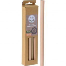 Bambusová slamka, 8 ks