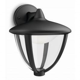 Philips 15471/30/16 Robin Vonkajšie nástenné LED svietidlo 23 cm, čierna