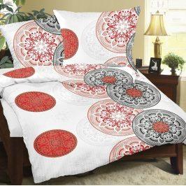 Bellatex Krepové obliečky Mandala červená, 140 x 200 cm, 70 x 90 cm