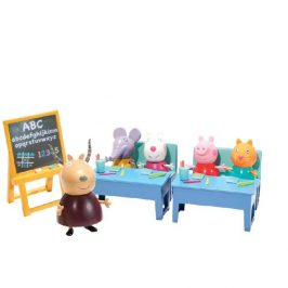 TM Toys Hrací set Peppa Pig škola, 10 ks