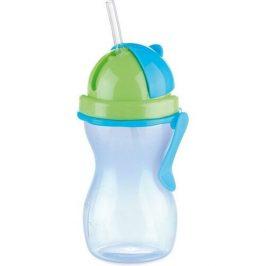 TESCOMA detská fľaša so slamkou BAMBINI 300 ml, zelená, modrá