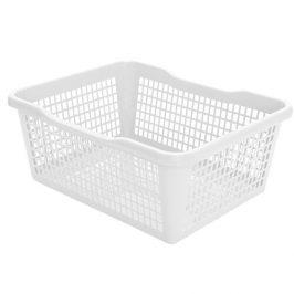 Aldo Plastový košík 41,9 x 32 x 16,8 cm, biela