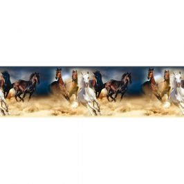 Samolepiaca bordúra Horses, 500 x 14 cm
