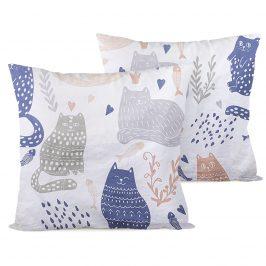 4home Obliečka na vankúšik Nordic Cats, 40 x 40 cm