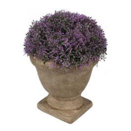 Umelá kvetina v betónovom kvetináči fialová, 15 x 12 cm
