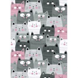 Vopi Kusový detský koberec Kiddo 1079 pink, 80 x 150 cm