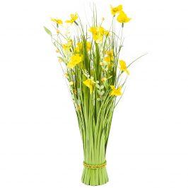 Väzba umelých lúčnych kvetín 70 cm, žltá