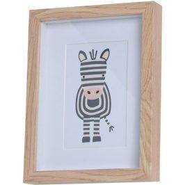 Drevený fotorámček Hatu Zebra, 17 x 3 x 22 cm
